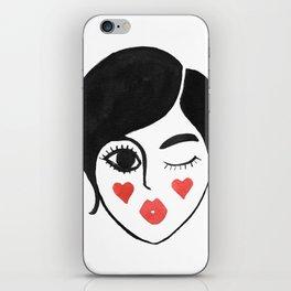 wink kiss iPhone Skin