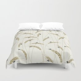 Crickets in a field Duvet Cover