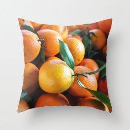 Beautiful Fruit - Oranges Throw Pillow