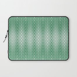 Cool Mint Green Frosted Geometric Design Laptop Sleeve