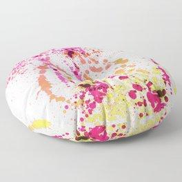 Uplifting Heat - Abstract Splatter Style Floor Pillow