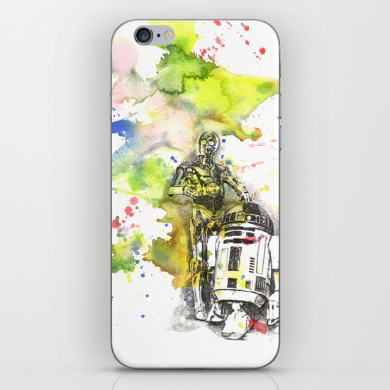 C3PO and R2D2 from Star Wars iPhone & iPod Skin