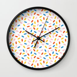 Livin' It - abstract pattern minimal modern primary colors pantone gender neutral retro throwback Wall Clock