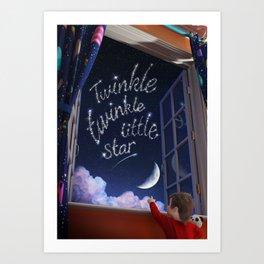 Twinkle Twinkle Little Star - Nursery Rhyme Inspired Art Art Print