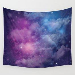 Pink and Blue Nebula Wall Tapestry