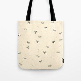 Aries Pattern - Beige Tote Bag