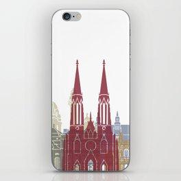 Vienna skyline poster iPhone Skin