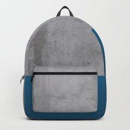 Concrete Blue Texture Backpack
