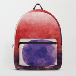 Orange landscape with purple moon Backpack