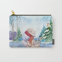 Winter Bear Carry-All Pouch