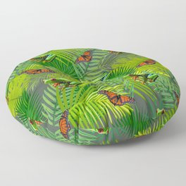 Frogs and Monarchs Floor Pillow