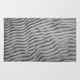 Black and white ripples Rug