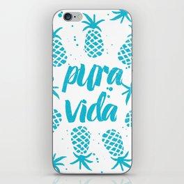 Pura Vida Pineapples in Blue iPhone Skin