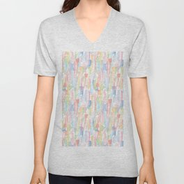 Abstract Brushstrokes - Pastels Unisex V-Neck