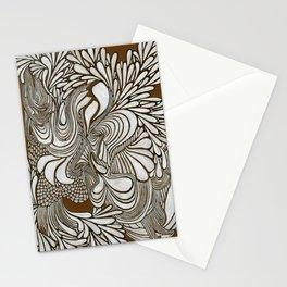 White Pattern Stationery Cards