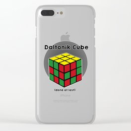Daltoniks cube Clear iPhone Case