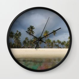 Rainbow Algae Bloom Wall Clock