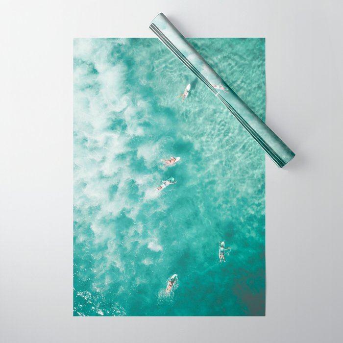 Surfing in the Ocean Wrapping Paper