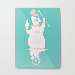 There is always time for a Dance Party (aqua) Metal Print
