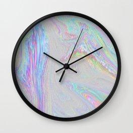 Long Time No See - Static/Glitch Pattern Wall Clock