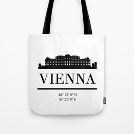 VIENNA AUSTRIA BLACK SILHOUETTE SKYLINE ART Tote Bag