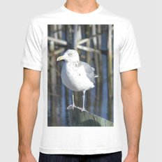 Seagull White Mens Fitted Tee MEDIUM