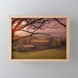 Dawn On The Farmstead  Framed Mini Art Print
