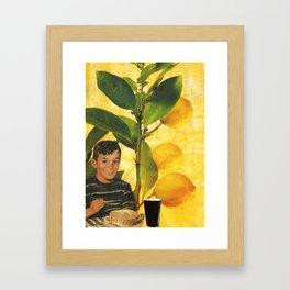 Boy Meal Time  Framed Art Print