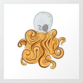 Octo-Beard Art Print