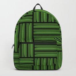 Green metallic pattern Backpack