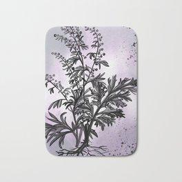 Wormwood Botanical Illustration Bath Mat