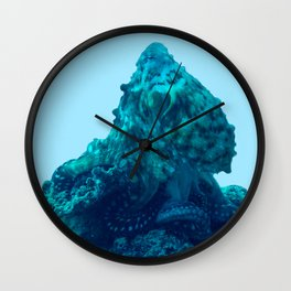 Octopus pretending to be a stone Wall Clock