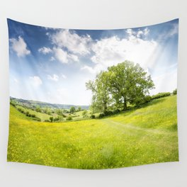 Idyllic Cotswold Summer Landscape Wall Tapestry