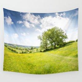Idyllic Cotswold Summer Landscape Wall Tapestry