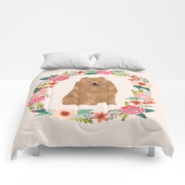 pomeranian floral wreath dog breed pet portrait pure breed dog lovers Comforters