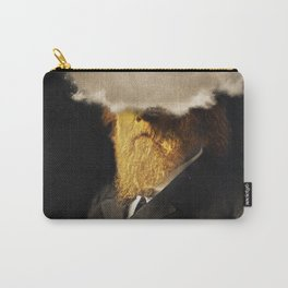 The inability of men with golden faces to be photographed without cloud. Carry-All Pouch