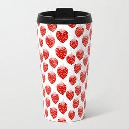 Strawberries - trendy fresh tropical fruit vegan vegetarian juice juicing cleanse Travel Mug
