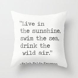 Ralph Waldo Emerson quote 1 Throw Pillow