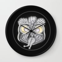 panic at the disco Wall Clocks featuring Panic by Conceptualized