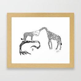 Giraffe/Cheetah Framed Art Print