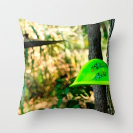 Disc Golf Bending but always coming back for more. Throw Pillow