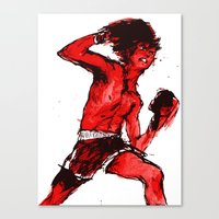 boxing Canvas Prints featuring Boxing 5 by Rachel E. Morris