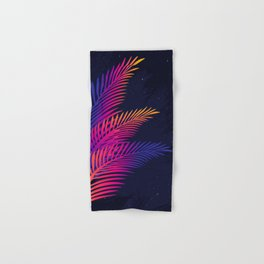 Neon Leaves Hand & Bath Towel