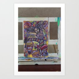 Tied to Dark Art Print