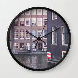Red Light Canal Wall Clock