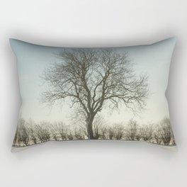Winter tree in the low sun Rectangular Pillow