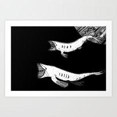Celestial Cetacea Art Print