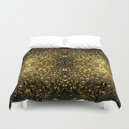 Beautiful Yellow Gold sparkles Duvet Cover