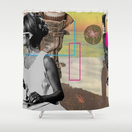 FALL collage art jakarta,colage art cute,collage art chill,collage beatifull,collage color,color,maj Shower Curtain