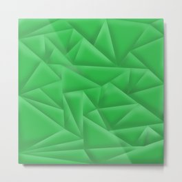 Green Poly Metal Print